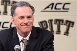Pitt head coach Jamie Dixon talks about the upcoming season during media day Thursday.