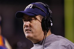 Panthers head coach Paul Chryst watches from the sidelines earlier this month against the Virginia Cavaliers in the second quarter at Scott Stadium in Charlottesville, Va. The Cavaliers won 24-19.