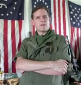 Eric Frein is seen in a still shot from a video documentary about the Vietnam War.