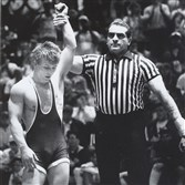 Former Jefferson-Morgan star Cary Kolat is declared the winner by decision over Ohio's Roger Chandler in the National High School Wrestling Championships in 1992. Kolat finished his career undefeated and could soon be joined in that company by Franklin Regional's Spencer Lee.