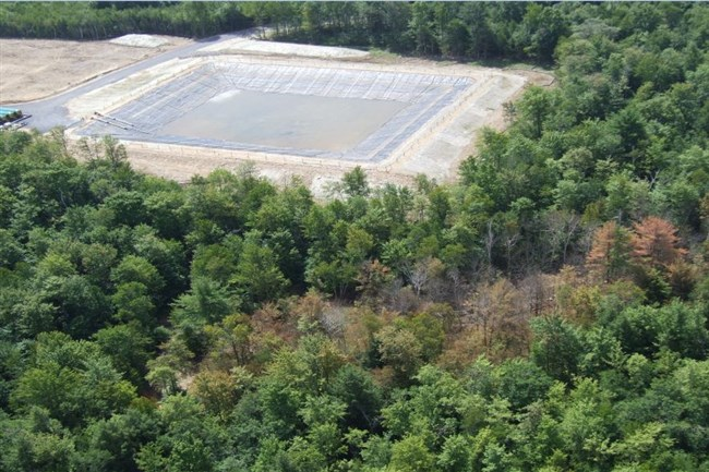 "Leaks from EQT Corp.'s ""S Pit"" in Duncan, Tioga County created a contamination plume over 2,000 feet long in 2012."