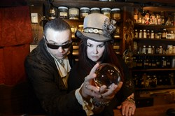 Lucien V. and Kali V., who own the Hocus Pocus Occult Emporium in Oakland.