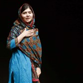 Malala Yousafzai on Oct. 10 in Birmingham, England, after winning the Nobel Peace Prize.