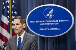 Centers for Disease Control and Prevention Director Dr. Tom Frieden at a news conference Sunday in Atlanta.