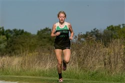 Katie Guarnaccia, a North Allegheny High School graduate, is a standout runner for the Point Park women's cross country team..