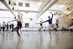 "Dancers from the Pittsburgh Ballet Theatre rehearse a scene from ""Sleeping Beauty"" at their Liberty Avenue studio."