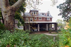 Grand Oaks Manor, the historic home in Brentwood owned by Bob Cranmer. Cranmer has written a book about the home, which he believes was haunted until it underwent an exorcism several years ago.