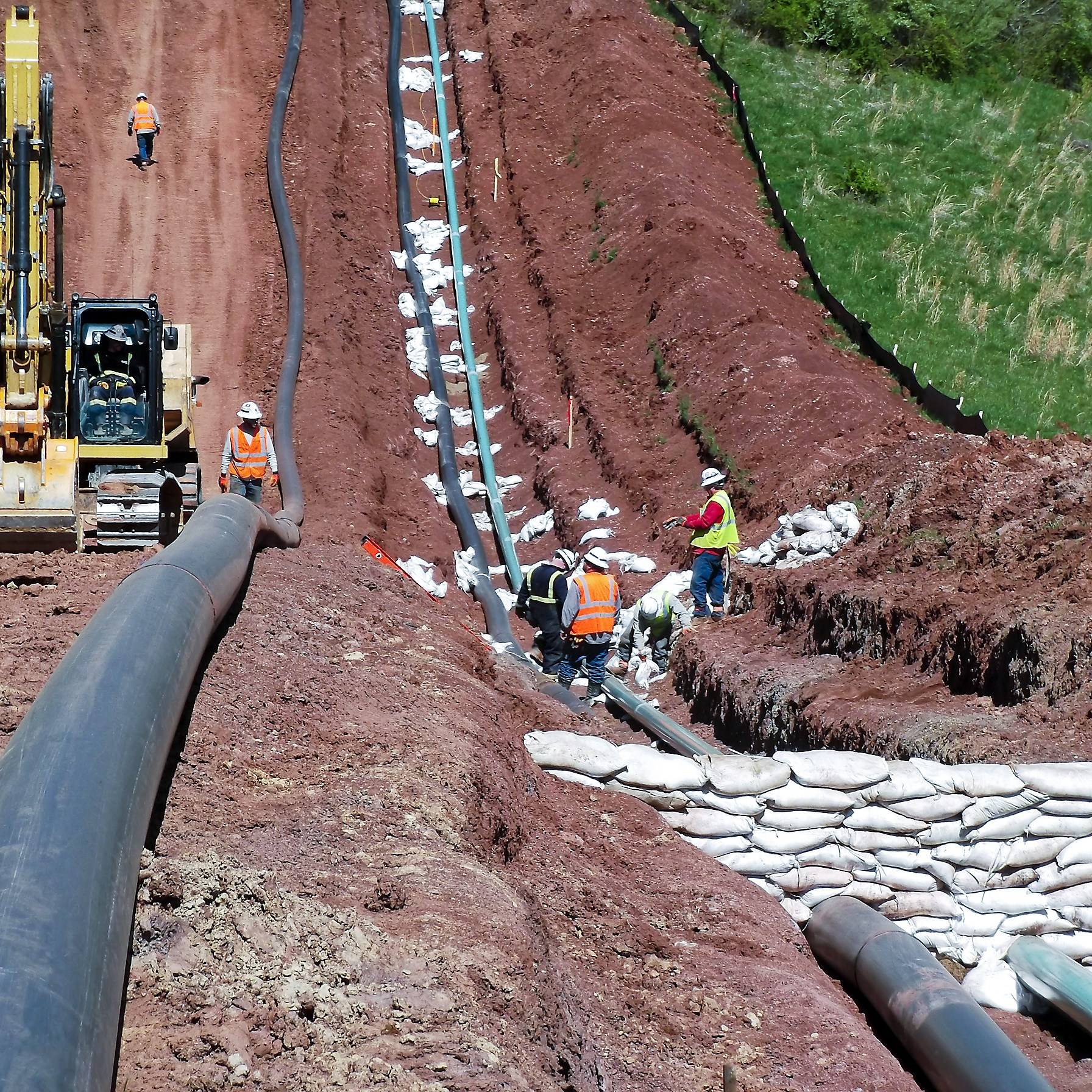 Water pipelines being installed along gas lines by an Ohio firm, Integrity Kokosing. Several companies want to build pipelines to supply drillers with water for fracking.