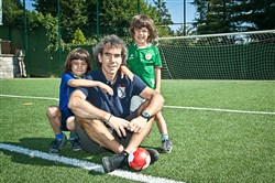 Aitor Coca and his sons Julen, left, and Joseba.