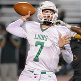 South Fayette quarterback Brett Brumbaugh looks to pass Friday against Seton-LaSalle.