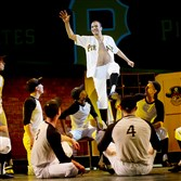 "Jeffrey Gorti portrays Roberto Clemente in ""21,"" the new musical by Alki Steriopoulos and directed by Richard Sabellico for the Conservatory Theatre Company of Point Park."