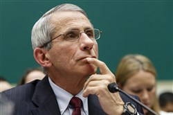Anthony Fauci, director of The National Institute of Allergy and Infectious Diseases, testifies Thursday on Capitol Hill in Washington, as the House Energy and Commerce Committee's subcommittee on Oversight and Investigations conducted a hearing to examine the response to the Ebola outbreak and whether America's hospitals and health care workers are adequately prepared for Ebola patients.