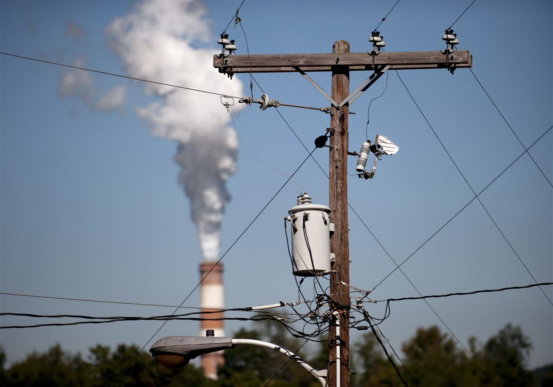 Phone Numbers For West Penn Power - A plume of exhaust extends from the mitchell power station a coal fired power