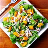 Golden Beet Salad with Almonds.
