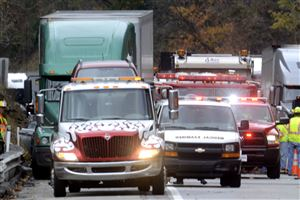 Investigation and cleanup take place after a fatal accident east of Monroeville on the Pennsylvania Turnpike.