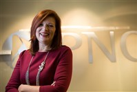 Beth Marcello, director of women's business development for PNC, at PNC's Fifth Avenue office, Downtown.