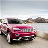 Jeep Grand Cherokee dark red SUV: In addition to the Ram 1500, Fiat Chrysler is installing the 3.0-liter V6 EcoDiesel engine in the Jeep Grand Cherokee. It comprises about 10 percent of the vehicles built.