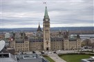 Police surround Parliament Hill in Ottawa.
