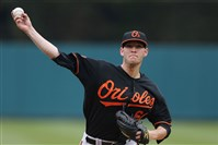 Josh Stinson appeared in eight games for the Orioles in 2014 and had a 6.23 ERA.