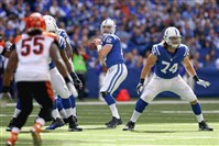 Colts quarterback Andrew Luck drops back to pass last week against the Cincinnati Bengals.