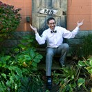 Todd Siegel in his backyard garden in Squirrel Hill.