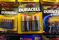 Duracell batteries hang from hooks on display at an office supply store in Boston.The Procter & Gamble Co., which acquired Duracell in 2005 as part of Gillette, announced earlier this year that it would jettison more than half its brands around the globe over the next year or two.
