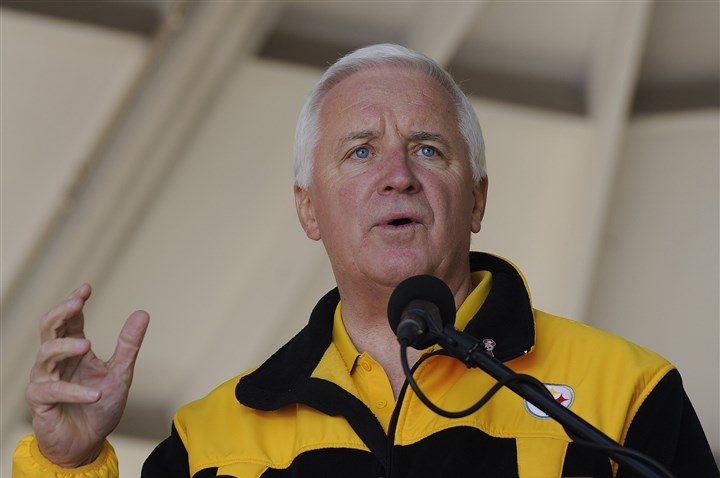 Tom Corbett Rally Gov. Tom Corbett chose not to expand the state's existing Medicaid plan.