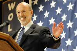 Gov.-elect Tom Wolf will be sworn in as governor on Jan. 20.