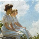 "Charles Courtney Curran, ""On the Heights,"" 1909,  Brooklyn Museum, gift of George D. Pratt. The oil on canvas is part of an exhibition at the Frick Art & Historical Center, Point Breeze."