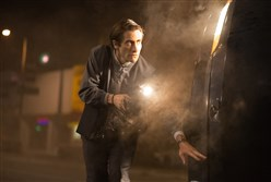 "Jake Gyllenhaal as Lou Bloom in  ""Nightcrawler."""