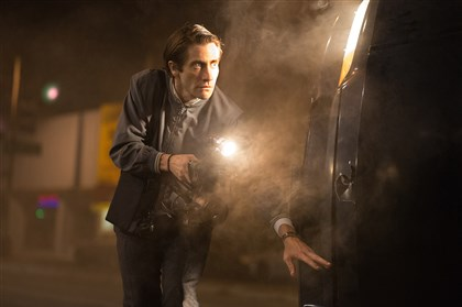 """Jake Gyllenhaal as Lou Bloom in ""Nightcrawler,"" written and directed by Dan Gilroy."