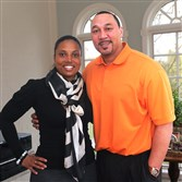 Latasha and Charlie Batch.