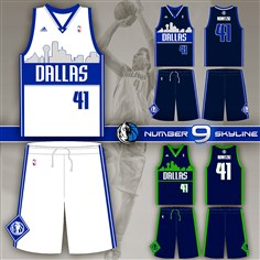 20141030hoDallasbiz Business folder? It will run with crowdsourcing1102. Caption information: This jersey design, created by Dallas Mavericks fan Geoff Case, will be worn by the NBA team during the 2015-16 season. The Mavericks are one of many teams to use crowdsourcing to create a new look.
