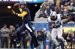 "West Virginia quarterback Clint Trickett on the Mountaineers' loss to TCU on Saturday: ""If the guy missed the field goal, everyone is happy right now. That's just part of the game."""