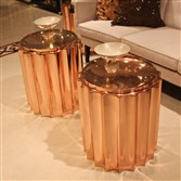 Copper column tables by Global Views.
