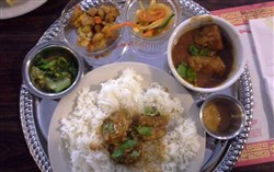 Pork Nepalese platter at Subba Asian Restaurant on the North Side.