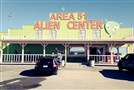 A popular rest stop, the Area 51 Alien Center in Amargosa Valley off Highway 95, features a restaurant, a mini mart, picnic areas and a brothel -- all with an alien theme.