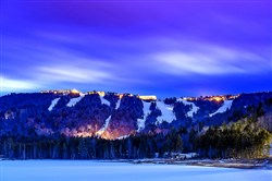 An extraordinary sky illuminates Snowshoe Mountain Resort in West Virginia.