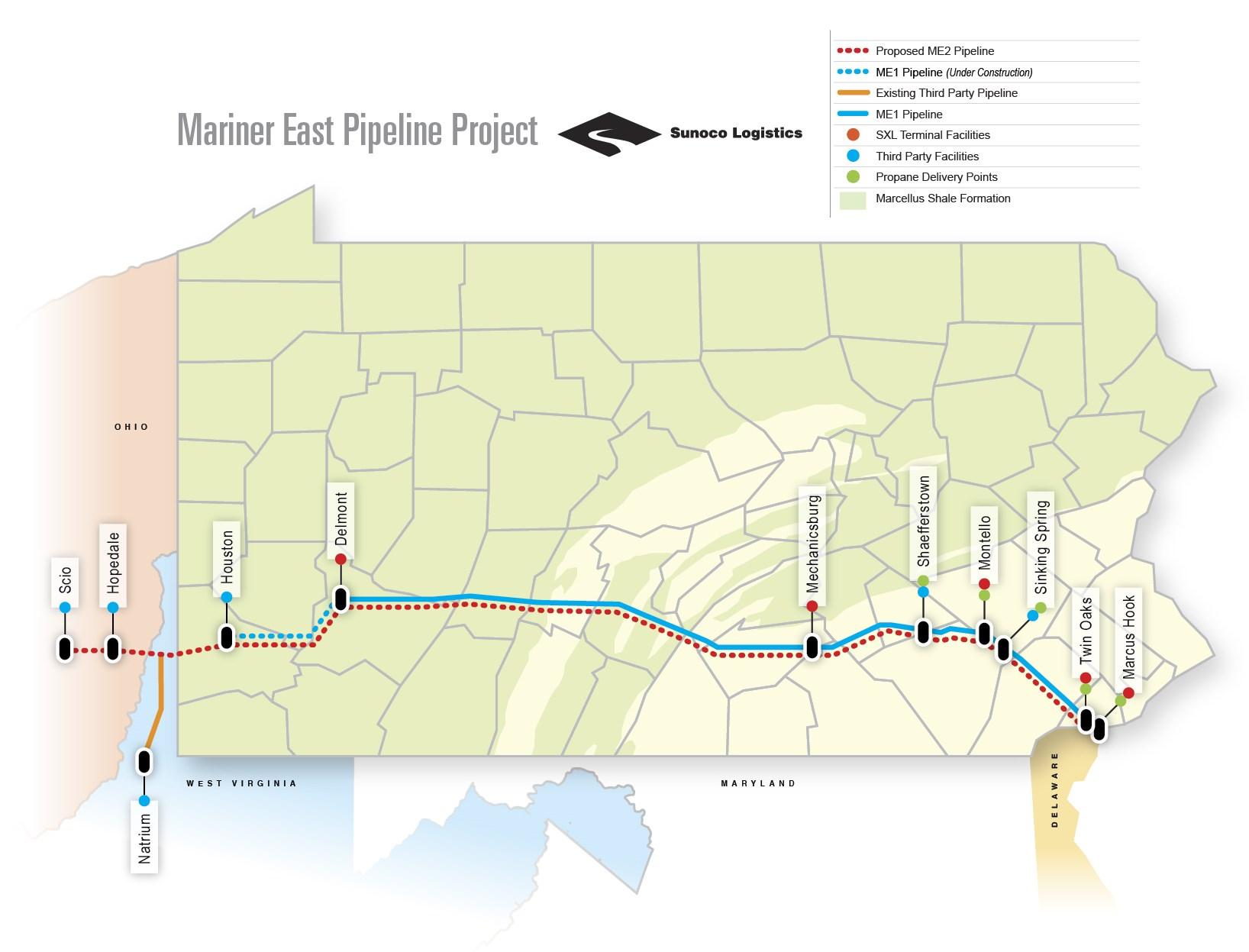 Sunoco To Go Ahead With 2 5 Billion Pipeline Through