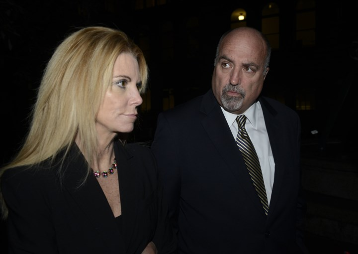 20141107bwFerranteLocal01-1 Robert Ferrante's attorneys, Wendy Williams and William Difenderfer, after the guilty verdict Friday night in the cyanide poisoning death of Mr. Ferrante's wife, Autumn Klein