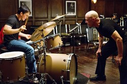 "Miles Teller is a music student under the instruction of J.K. Simmons in ""Whiplash."""