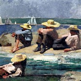 "Winslow Homer's ""Children on the Beach (Watching the Tide Go Out; Watching the Boats) was part of the recent auction from the estate of Rachel Lambert ""Bunny"" Mellon. The painting was sold at Sotheby's for $4.5 million."