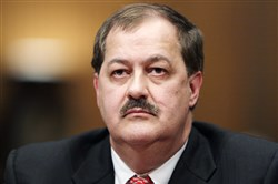 In this May 20, 2010, photo, Massey Energy CEO Donald Blankenship pauses as he testifies on Capitol Hill in Washington.