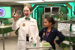 "Sean Michael Kyer is Agent Oscar and Millie Davis is Ms. O in ""Odd Squad,"" premiering Wednesday on PBS Kids."