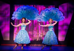 "Trista Moldovan, left, and Kaitlyn Davidson perform during the ""Irving Berlin's White Christmas,"" which runs through Sunday at the Benedum Center, Downtown."