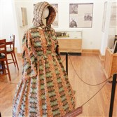 Civil War-era clothing, such as this wool-cotton dress, is on display in the Monterey Pass Battlefield Museum.