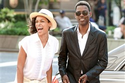 "Rosario Dawson and and Chris Rock star in ""Top Five."""