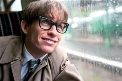 "Eddie Redmayne stars as Stephen Hawking in James Marsh's ""The Theory of Everything,"" opening in theaters Wednesday."