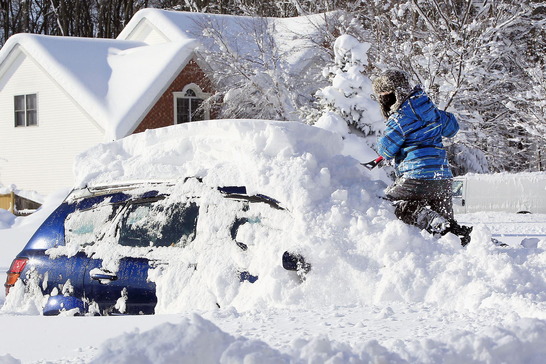 Image result for car snowed under