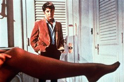 "Dustin Hoffman appears in an iconic scene from ""The Graduate"" with Anne Bancroft. The 1967 movie earned Mike Nichols an Oscar for Best Director."